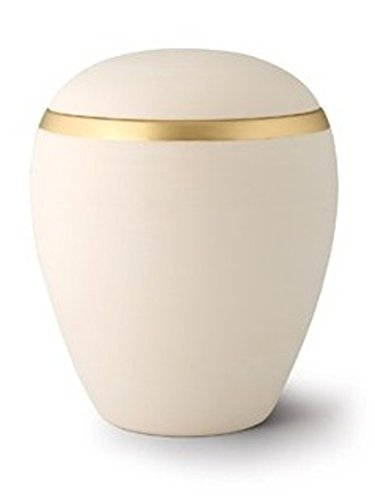 WELLSBOURNE CREAM The Coffin Company Ceramic Cremation Ashes Urn - - Adult Size Croma Edition