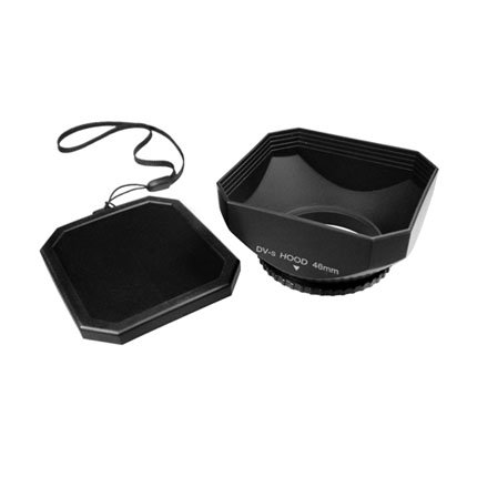 Mennon DV-s 46 Screw Mount 46mm Digital Video Camcorder Lens Hood with Cap, Black