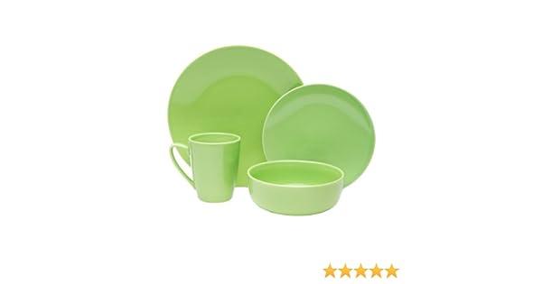 Amazon.com | sengWare 4-Piece Classic Round Dinnerware Set Pistachio Dinnerware Sets  sc 1 st  Amazon.com & Amazon.com | sengWare 4-Piece Classic Round Dinnerware Set ...