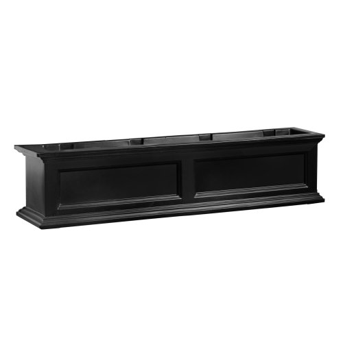 B Window Box Planter, 4-Foot, Black ()
