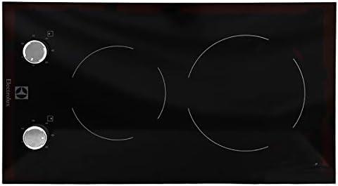موقد التسخين الكهربائي دومينو من السيراميك من إلكترولوكس - أسود،  EHF3920BOK: Amazon.ae