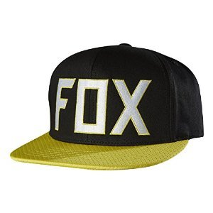 Adjustable Fox Hat - Fox Racing Mens Assist Snapback Adjustable Hat One Size Black