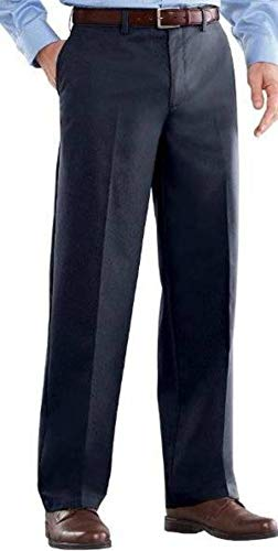 Croft & Barrow Mens Classic Fit Flat Front Comfort Waist Khaki Pants, 33x32, Navy -