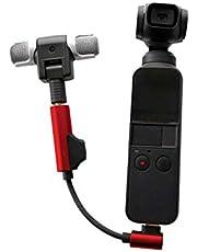 DOGZI Tipo C to 3.5 mm Adaptador de Audio Micrófono inalámbrico Externo para dji Osmo Pocket