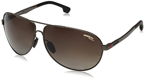 Carrera Men's Ca8023s Aviator Sunglasses, Matte Brown/Brown Gradient Polarized, 65 - Glasses Carrera Mens