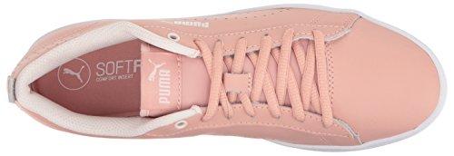 Puma Donna Smash Wns V2 Sneaker In Pelle Perf Pesca Beige-pesca Beige