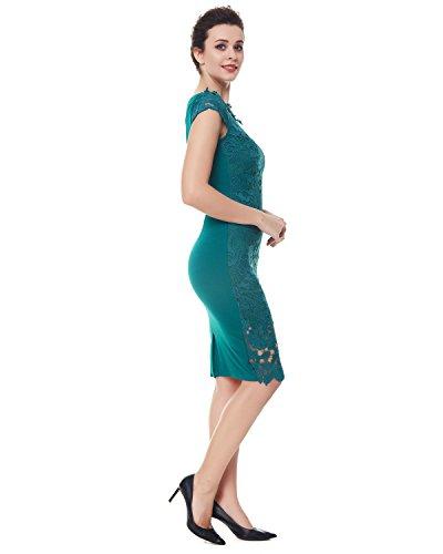 Ajustado Falda Mujer Fiesta nbsp;Encaje Elegante Verde S Lapiz 2XL Vestido Bodycon Kenancy qETgpfg