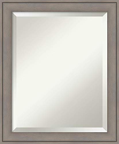 Framed Vanity Mirror | Bathroom Mirrors for Wall | Greywash Mirror Frame -