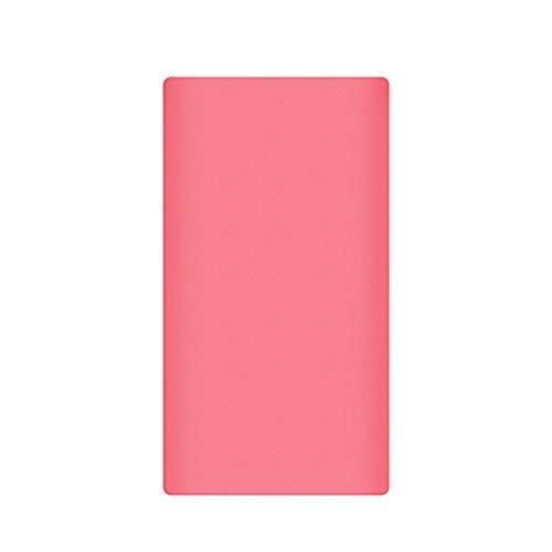 Funda protectora de silicona para Xiaomi Power Bank 2 10000 mAh, 13 x 7,5 cm 5.12×2.95in (Approx.) rosa