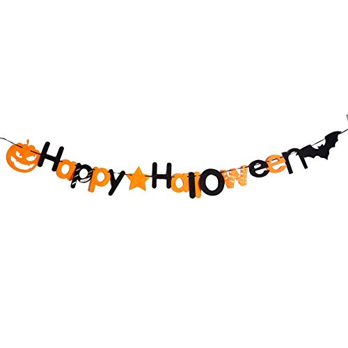 Connoworld Happy Halloween Pumpkin Bat Hanging Bunting Garland Banner Party Decoration Pro]()