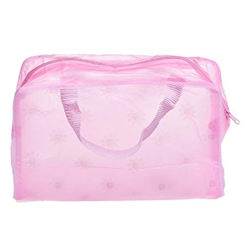 - Portable Makeup Cosmetic Toiletry Travel Wash Toothbrush Pouch Organizer Bag - HHmei Floral Transparent Waterproof Cosmetic Bag| Backpacks Hobo Satchels Top-Handle Totes Wristlets Shops (Pink)