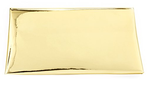 Shiny Funky Handbag Metallic Clutch Evening Gold Junque��s Purse Reflective Envelope xxtrq68nZ