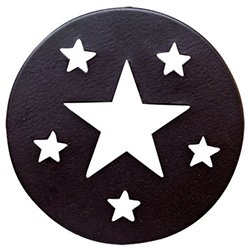 Heart of America Star Candle Jar Lid