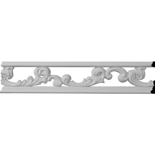 Ekena Millwork PML03X00KI 3 1/4-Inch H x 3/8-Inch P x 96-Inch L Kinsley Pierced Moulding (Wood Molding Pierced)