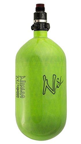 Ninja Paintball SL Carbon Fiber 68ci/4500psi Air Tank w/ Pro V2 Regulator - Lime by Ninja