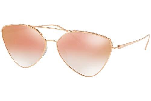 Prada PR51US Sunglasses Pink Gold w/Gradient Pink Mirror Pink 62mm Lens SVFAD2 SPR51U PR 51US SPR 51U
