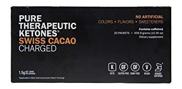 KETO//OS MAX Swiss Cacao CHARGED, BHB Salts Ketogenic Supplement - Beta Hydroxybutyrates Exogenous Ketones for Fat Loss, Workout Energy Boost and Weight Management through Fast Ketosis, 20 Sachets
