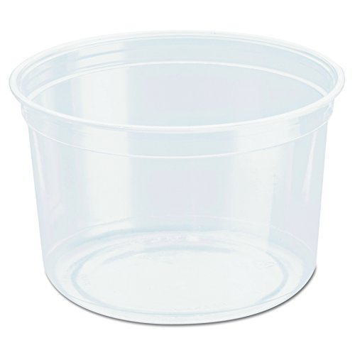 SOLO Cup Company DM16R Bare Eco-Forward RPET Deli Containers, 16 Oz, 4 3/5 Inch Diameter,Clear (Case of 500)