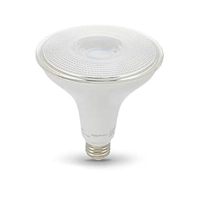AmazonBasics 90W Equivalent, Daylight, Dimmable, 10,000 Hour Lifetime, PAR38 LED Light Bulb | 6-Pack