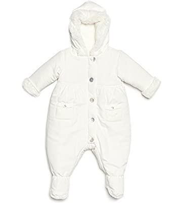 15f138949 Amazon.com  Leveret Barn Baby Snowsuit with Faux Fur (Bunting