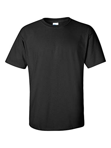 Gildan Men's Ultra Cotton Adult T-Shirt, 2-Pack, Black, X-Large