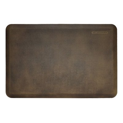WellnessMat Antique Collection Motif Dark Brown Linen Mat, 36 x 24 Inch by WellnessMats
