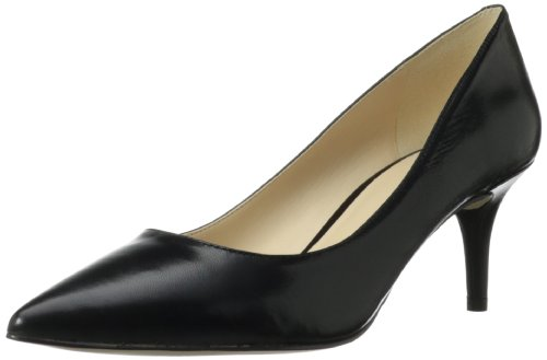 Nine West Women's Margot Leather Dress Pump,Black Leather,9.5 M US
