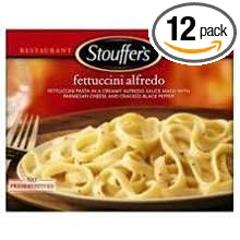 Nestle Stouffers Entree Fettuccini in Alfredo Sauce, 11.5 Ounce - 12 per case.