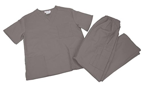 NATURAL UNIFORMS Women's Scrub Set Medical Scrub Top and Pants XL ()