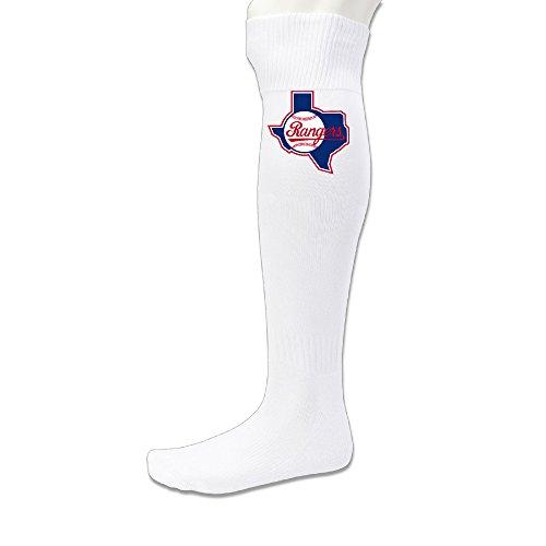 CGH Seven Texas Ranger Baseball Football Sport Tube Socks Over Knee SizeOne Size White