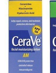 CeraVe Facial Moisturizing Lotion 3oz. AM/PM Bundle