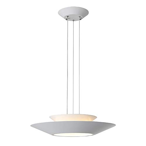 (DECORATZ LED Kitchen Table Chandelier, 24W Diameter48CM Height10cm Acrylic Lampshade White+Warm+Neutral Light Modern Simple Lighting Fixtures at Night-TricolorLight)