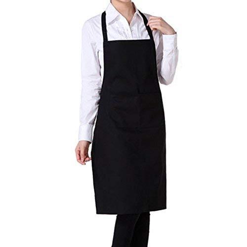 Aofocy Chef femmes hommes tablier avec poche pour la cuisine /à domicile restaurant caf/é maison noir de haute qualit/é