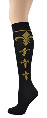 Foot Traffic Fleur-de-Lis Knee High Socks, Bringing a Touch of Royal Class to Your Legs and Feet