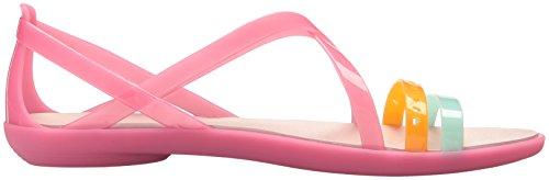 Découpées Dust Paradise Pink Lanières Crocs 35 Sandales Rose pour Isabella à Femmes OqnUI7xf