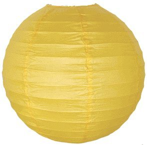 Just Artifacts 24-Inch Pineapple Yellow Round Chinese Japanese Paper Lantern (1pc, Pineapple Yellow)