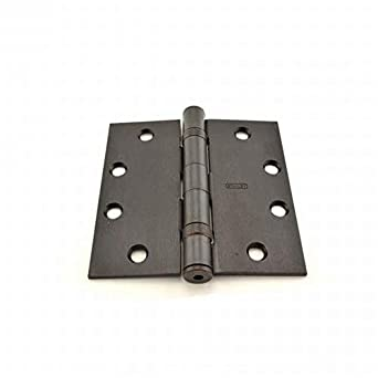 """Stanley Square Corners 4/"""" x4/"""" Oil Rubbed Bronze Residential Door Hinges 6"""
