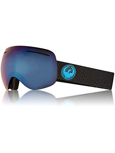 Dragon Alliance X1 Ski Goggles, Large, Black, Split/Luma Blue Ion Lens