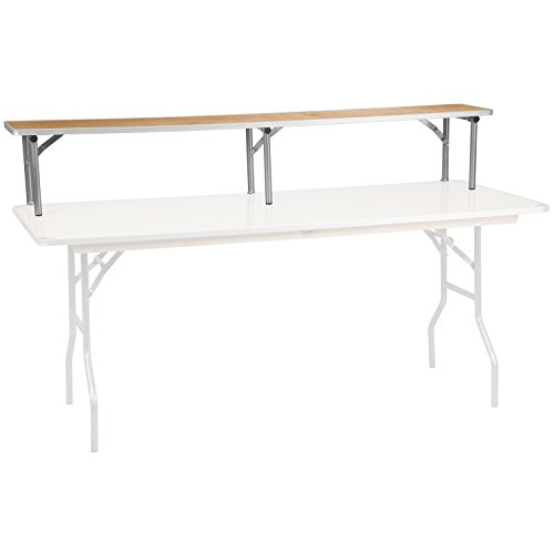 Flash Furniture 72'' x 12'' x 12'' Birchwood Bar Top Riser with Silver Legs