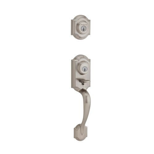 Kwikset 554MNH SMT Montara Two-Point Locking Double Cylinder Handleset with Smar, Satin Nickel (Series Double Handle)