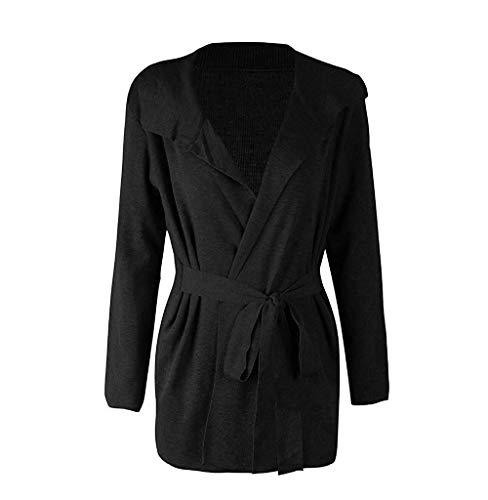 Tight lunga Womens Maglione Pink Wild Pullover donne Black Schwarz qualità Moda le Solid Super Outwear da donna Leisure per Cosy manica Cappotto Casual CUx6qzt