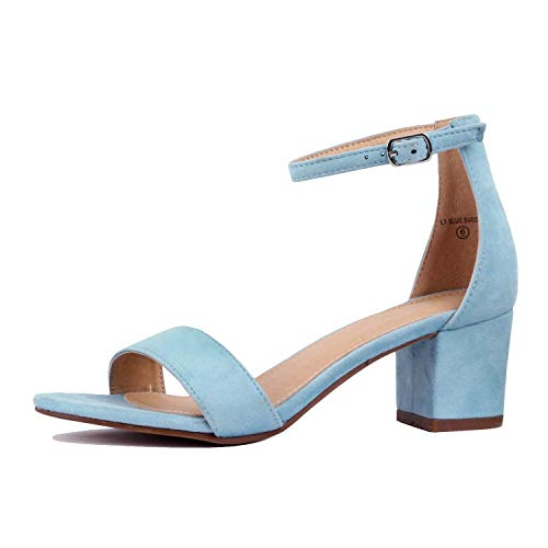 Guilty Shoes - Womens Ankle Strap Single Band Sandals - Low Chunky...