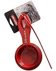 كوب قياس بلاستيكي من نيوفلام 4 قطع 59 مل / 79 مل / 118 مل / 237 مل ، أدوات المطبخ نيوفلام ، أحمر ، AC20018