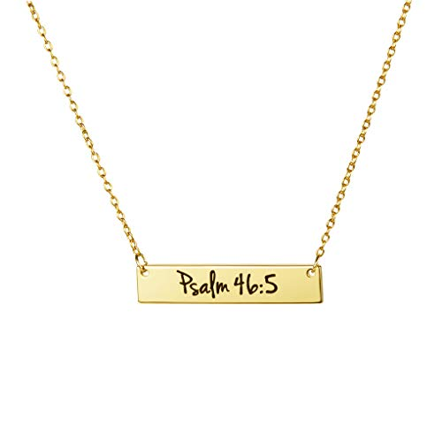MEMGIFT Christian Gifts for Women 18K Gold Plated Bible Verse Necklace Religious Birthday Baptism Jewelry