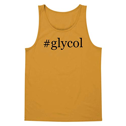 The Town Butler #Glycol - A Soft & Comfortable Hashtag Men's Tank Top, Gold, XX-Large
