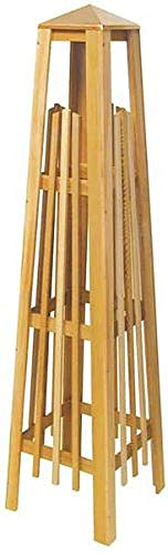 ARBORIA Garden Trellis Cedar Wood 56 Inch Height Obelisk Pyramid Shape with Copper Cap