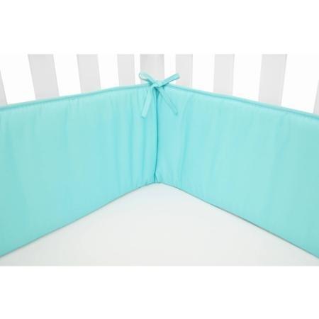 crib bumper aqua - 6