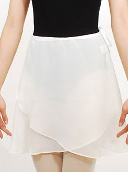 c1a8109ed9915 Amazon.co.jp: バレエ 無地巻きスカート(40cm丈) dessusdessous 1095 ホワイト  服&ファッション小物