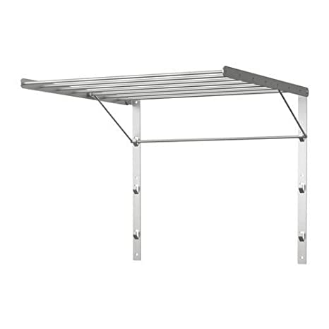 "IKEA pared tendedero 22 ""acero inoxidable plegable ropa Percha Estante"