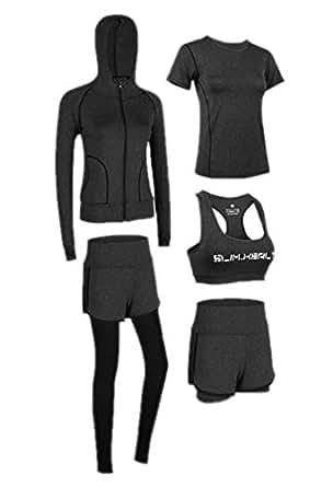2e7657802 Set de Yoga para Mujer, Jogging, Gimnasio, Entrenamiento Deportivo, Traje de  5 Piezas: Amazon.es: Ropa y accesorios